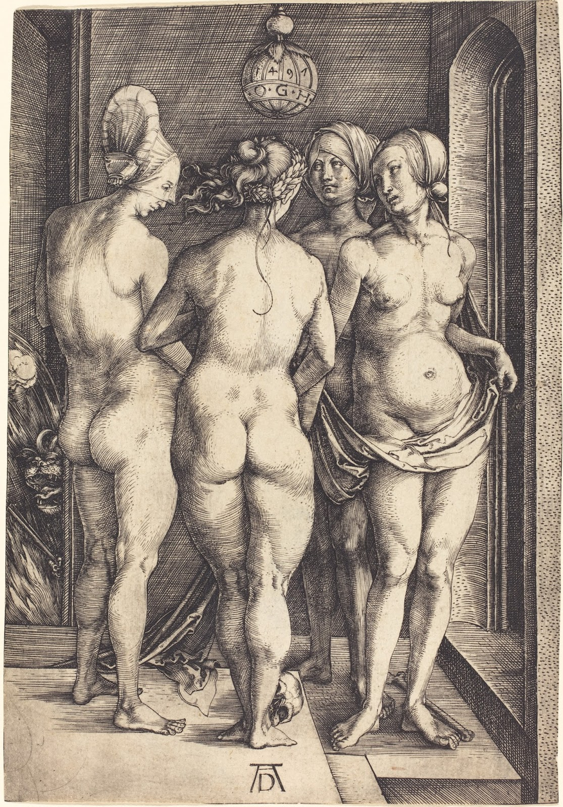 Since they were woodcuts, they were sort of the first mass production of art  to be made.