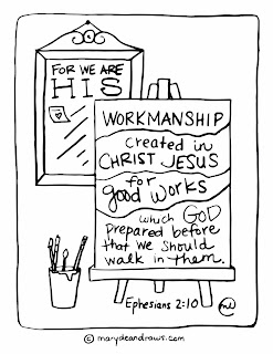 HIS workmanship printable coloring page (in English and ...