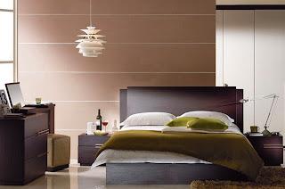 Dormitorio decorado color chocolate