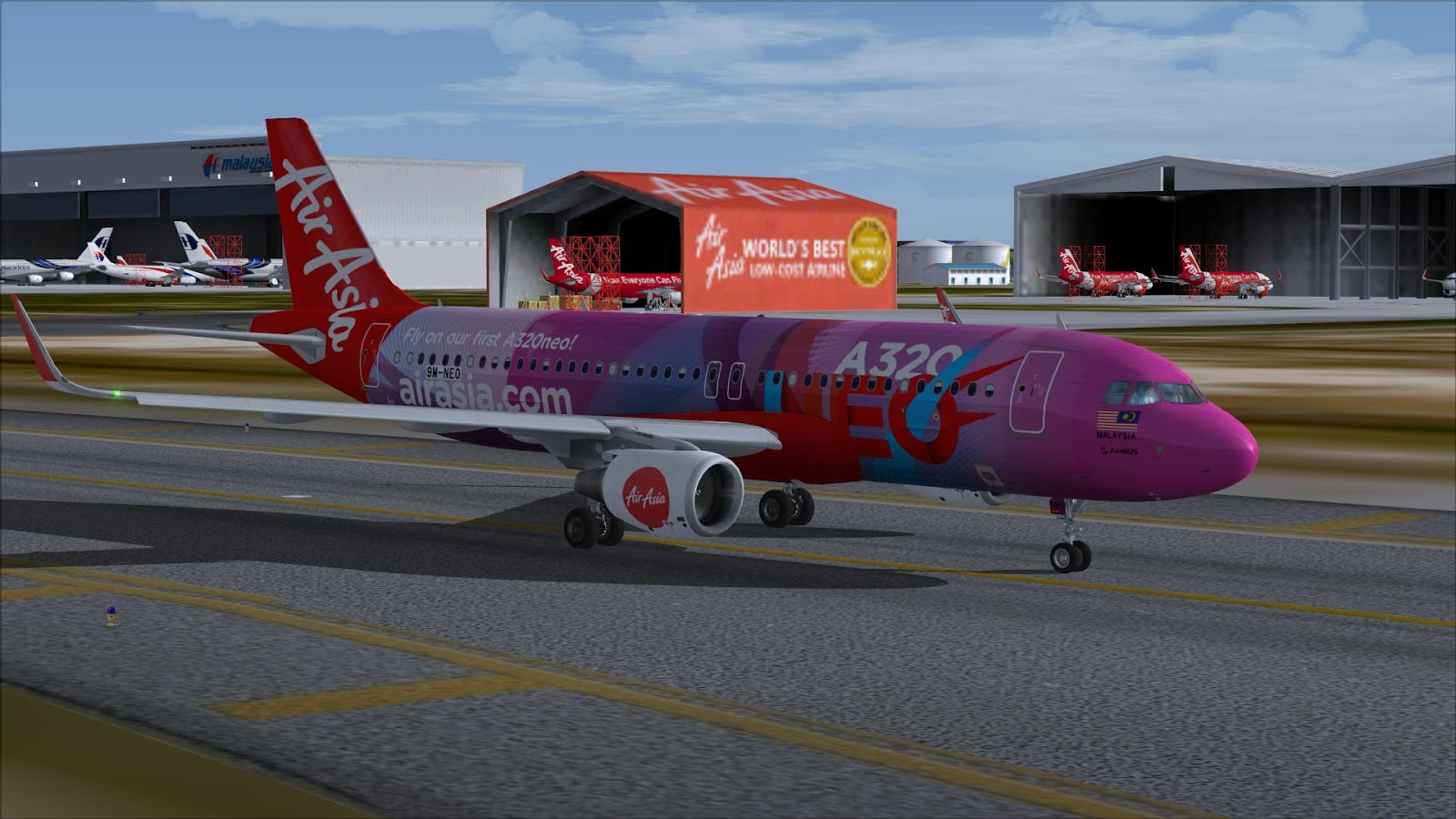 FSRepainter: PROJECT AIRBUS A320-200Neo AirAsia 9M-NEO A320neo