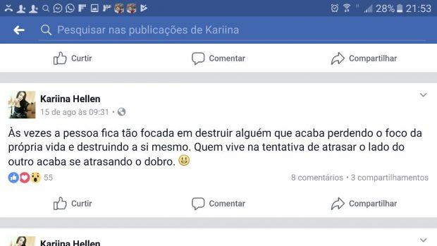 Assaltante morta por comerciante no assalto em Cacimba de Dentro tinha postado uma última declaração de arrependimento no 'Facebook'