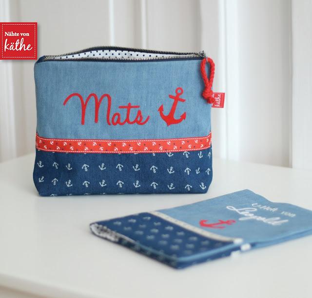 maritime Geschenke: U-Heft-Hülle und kleines Täschchen