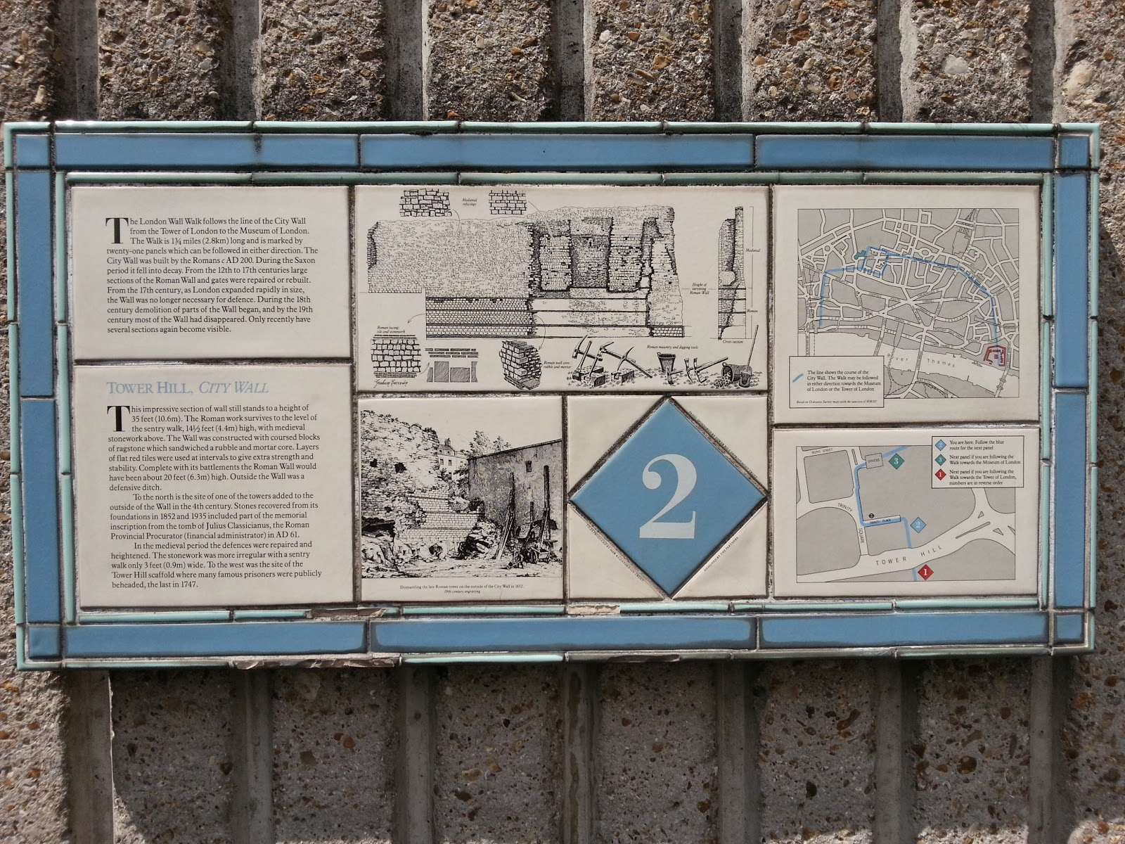 Plaque No.2 from the London Wall Walk