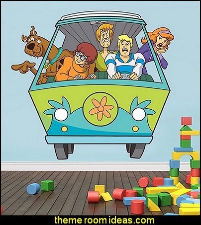 Scooby Doo Mystery Machine Van Decal Removable Wall Sticker Home Decor Art Mural