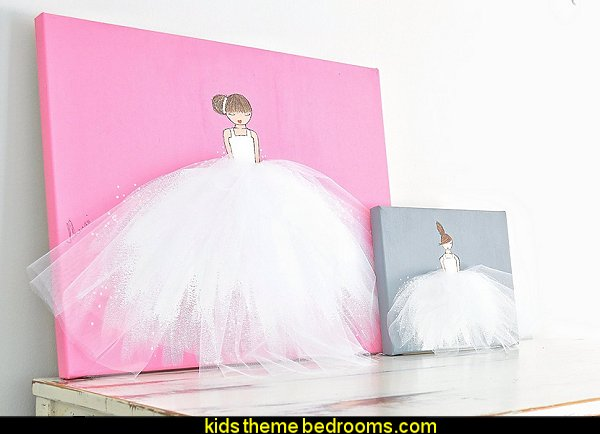 Wall Art Ballerina with White Tutu