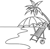 דפי צביעה ים ובריכה