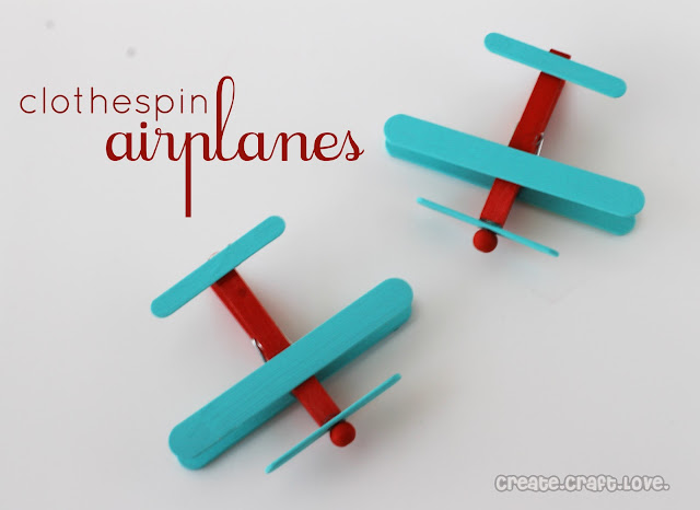 Clothespin Airplanes Party Favors Create Craft Love