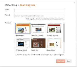 Pendaftaran Blog baru