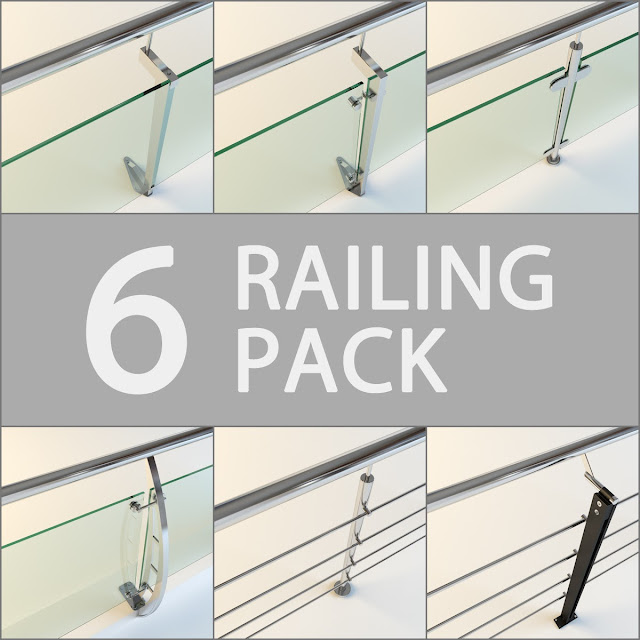 05 [3D model free] Railling