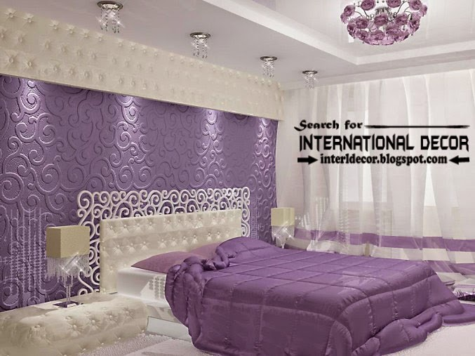 contemporary luxury bedroom decorating ideas designs furniture 2015, purple bedrooms