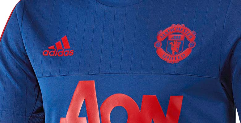3c4998123 The new Adidas Manchester United 2015-16 Training Shirts introduce a bold  design with striking colors