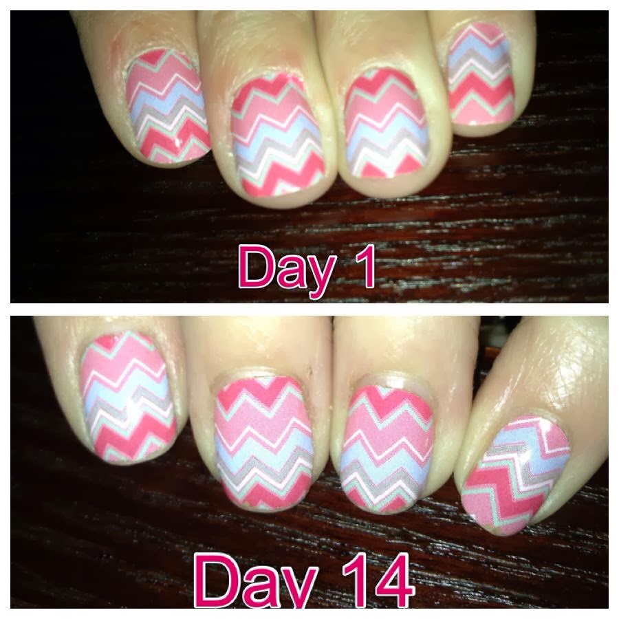 Gel nails with jamberry