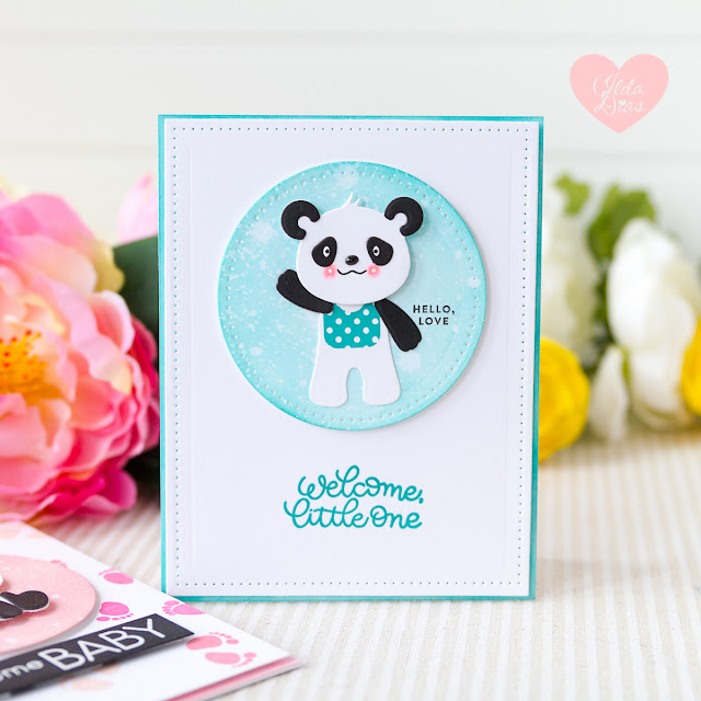 Baby Cards Using the Build A Panda Etched Dies from Spellbinders by ilovedoingallthingscrafty