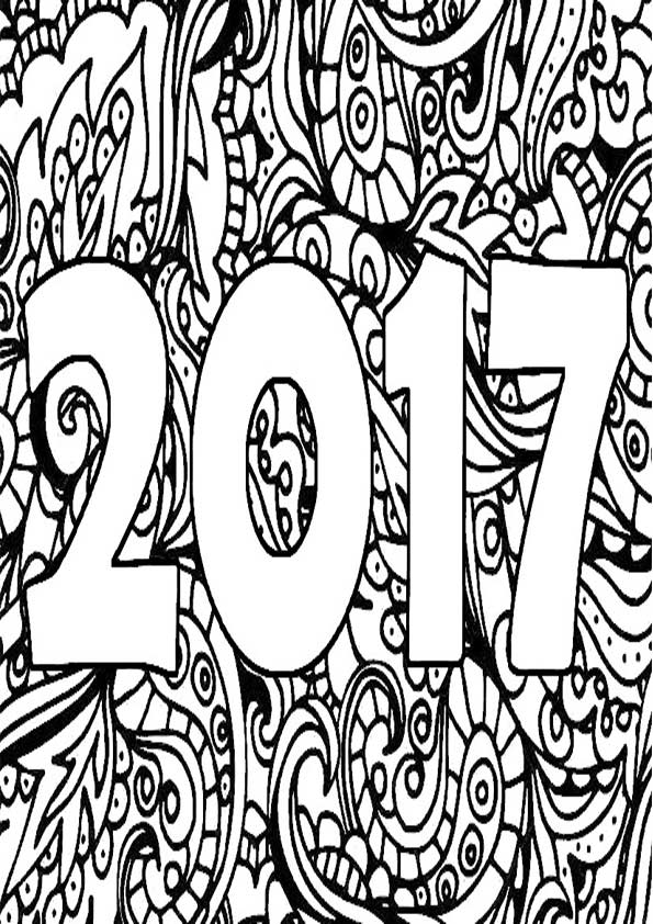 new year coloring pages 2017 new year 2017 coloring pages for adult realistic