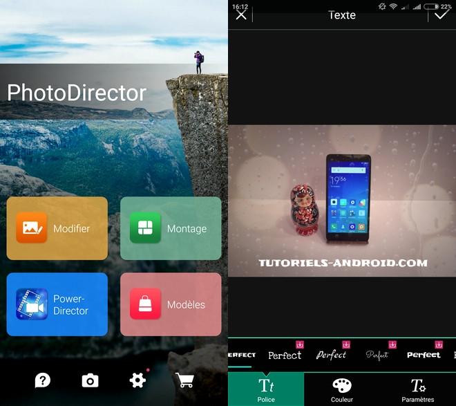 Photodirector pour Android