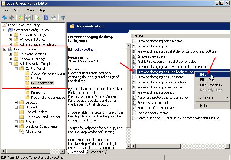Mengunci Wallpaper Permanen Desktop Windows 7 & 8