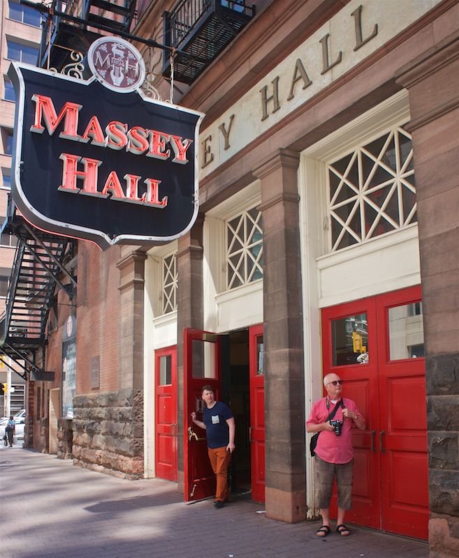 Tomatoes From Canada: Backstage at Massey Hall