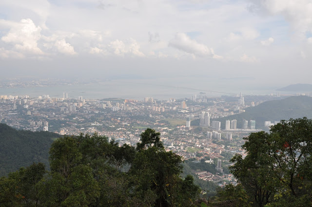 The view from atop Penang Hill
