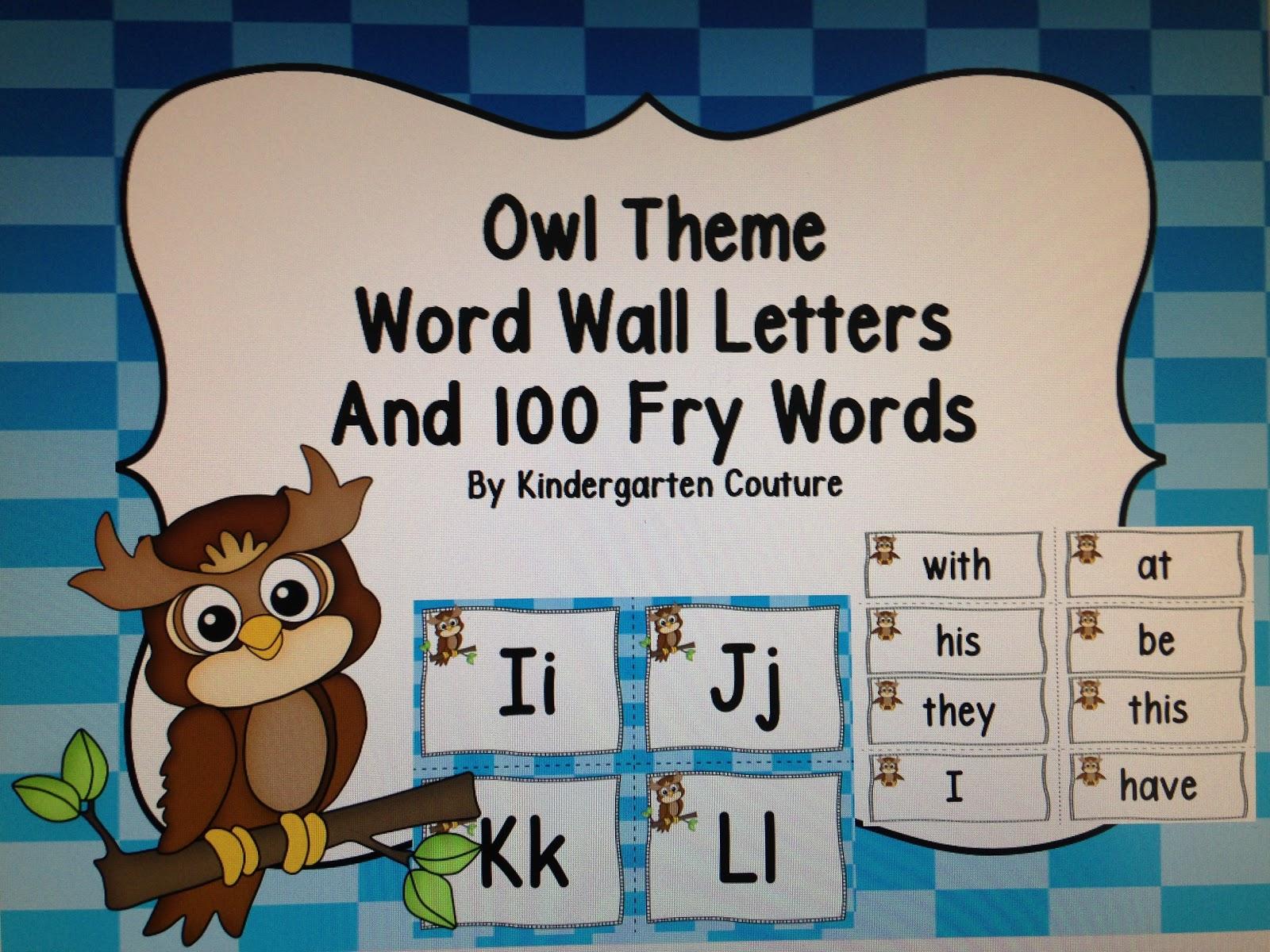 Kindergarten Couture Word Wall