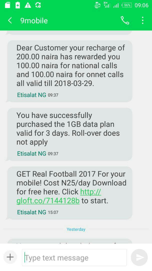 9mobile N200 for 1GB plan is still working perfect on all internet enabled devices without any tweak