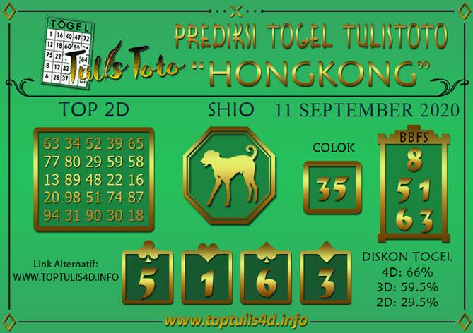 Prediksi Togel HONGKONG TULISTOTO 11 SEPTEMBER 2020