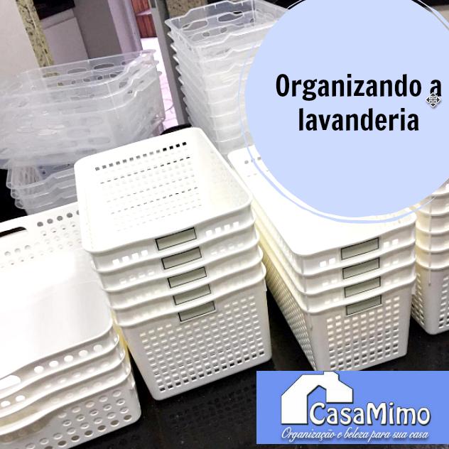 Lavanderia organizada com produtos da Casa Mimo