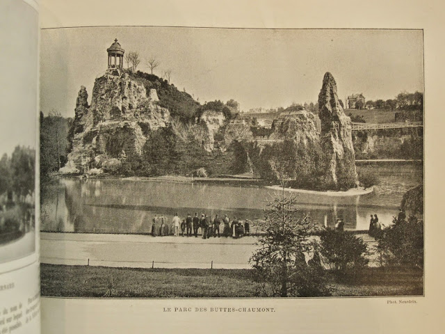 Bournon Paris Atlas 19e Larousse buttes-chaumont