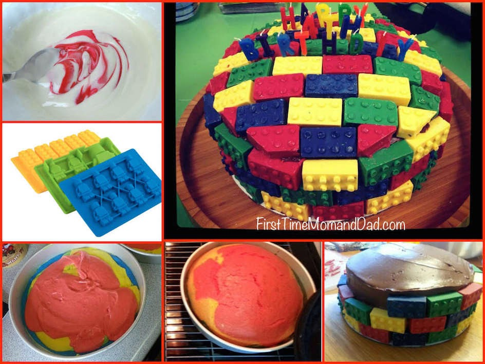 First Time Mom and Dad: Super Easy #DIY LEGO Cake