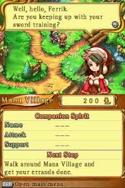 Children of mana (desmume emulator) nds gameplay youtube.