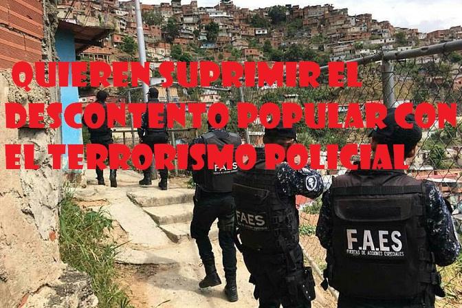 Caracas bajo el yugo del terrorismo de Estado  FAES asesinó a 17 jóvenes  entre el 15 y 17 de febrero 5a8cc20d309