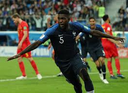 رأسية  المدافع صمويل أومتيتي تقود فرنسا لنهائي كأس العالم روسيا 2018