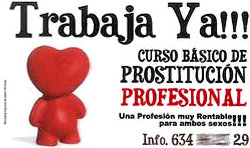 Cursos de prostitución en Valencia que fomentan la violencia contra las mujeres