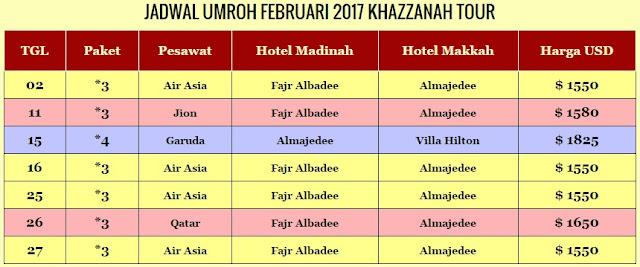 Jadwal Umroh Februari 2017