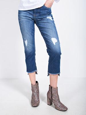 Foro di jeans lunghezza caviglia