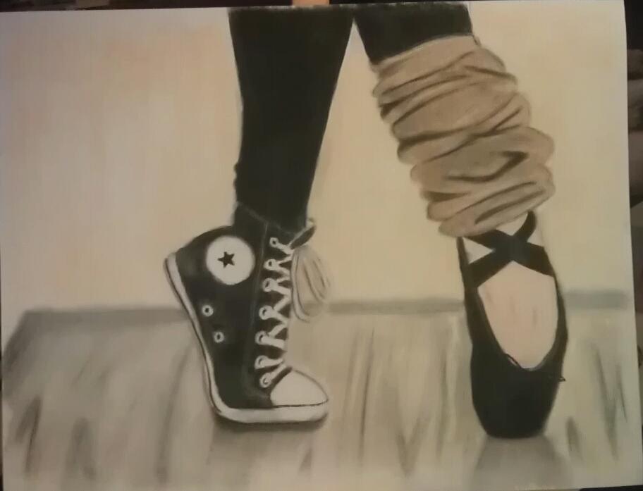 Dibujos De Zapatillas De Ballet Para Colorear