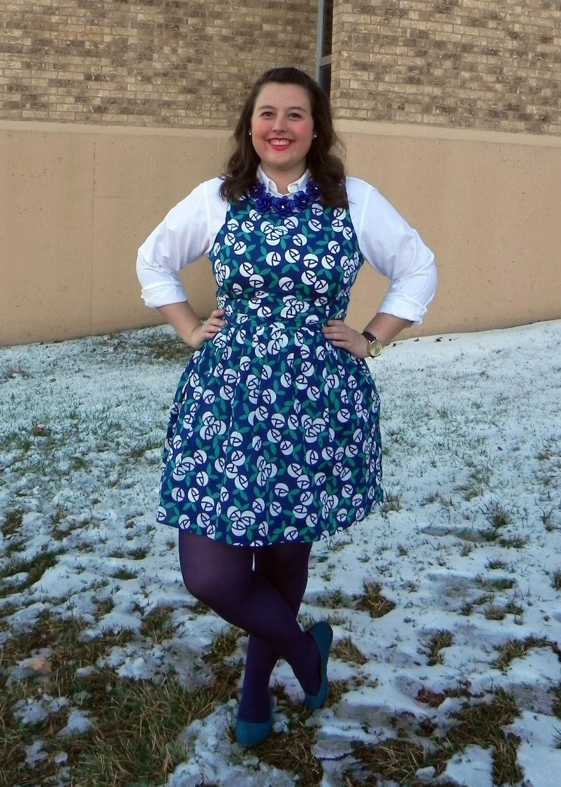 The cheerful closet four seasons one piece floral dress izmirmasajfo Image collections