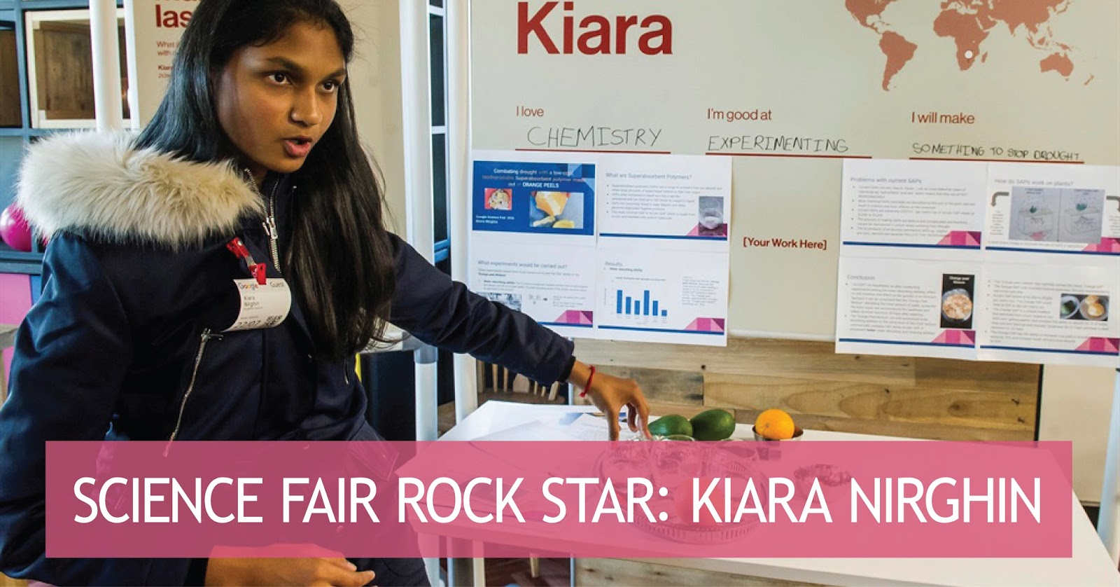 science fair rock star: kiara nirghin ~ self-rescuing princess society