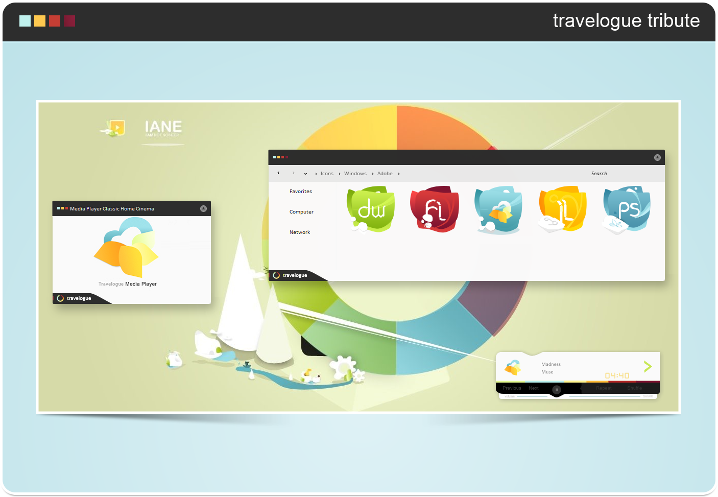 TRAVELOGUE TRIBUTE Theme for Windows 8/8.1