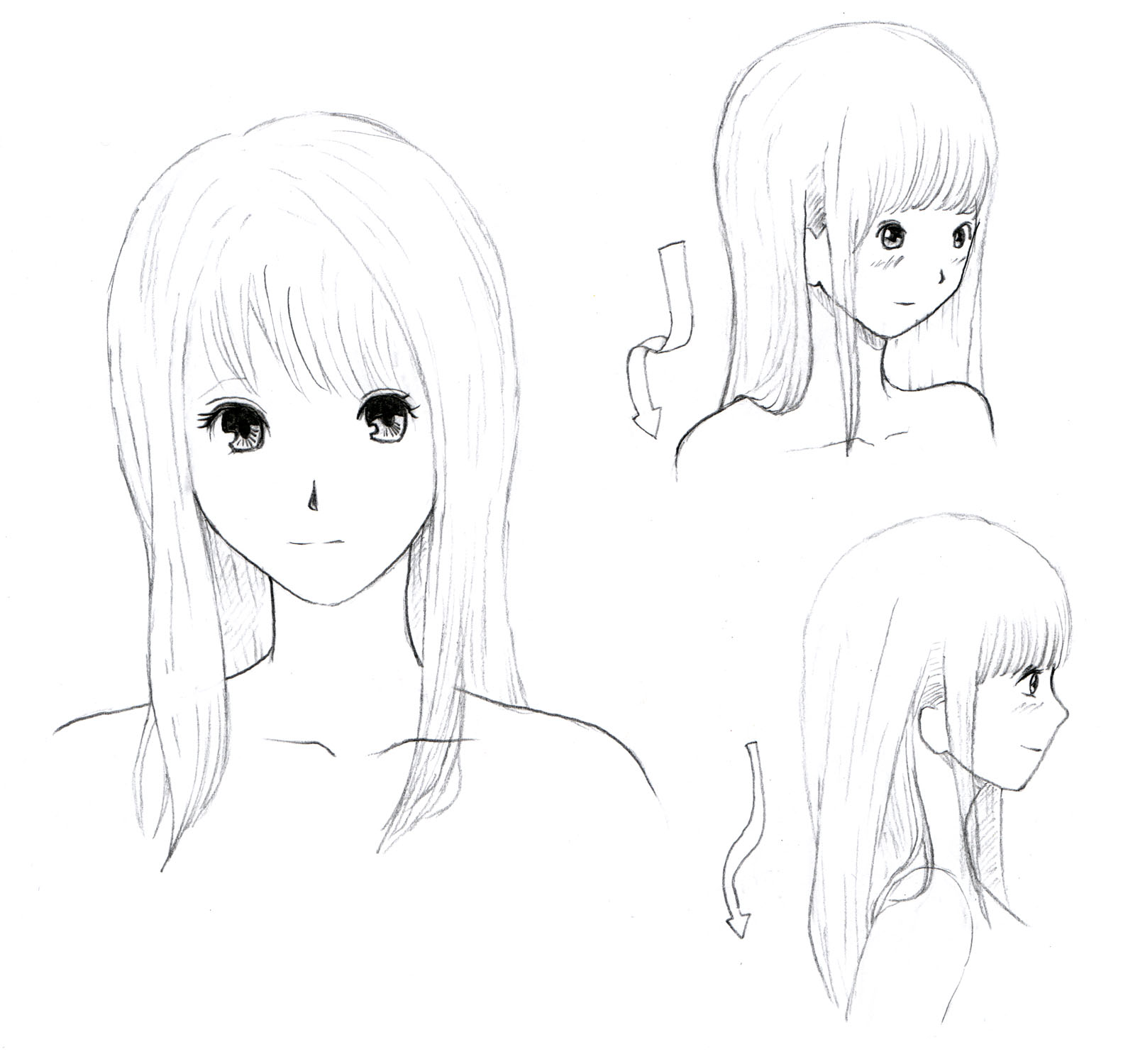 JohnnyBro's How To Draw Manga: How To Draw Manga Hair