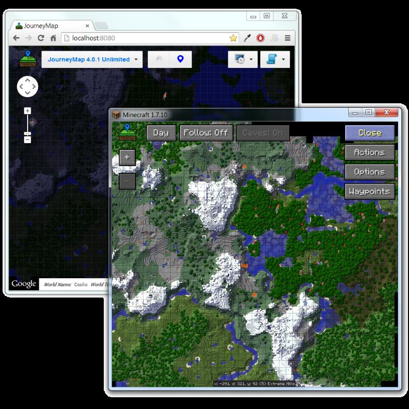 JourneyMap Mod para Minecraft 1.8/1.8.8