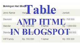 Tạo Table trong HTML cho blogspot AMP
