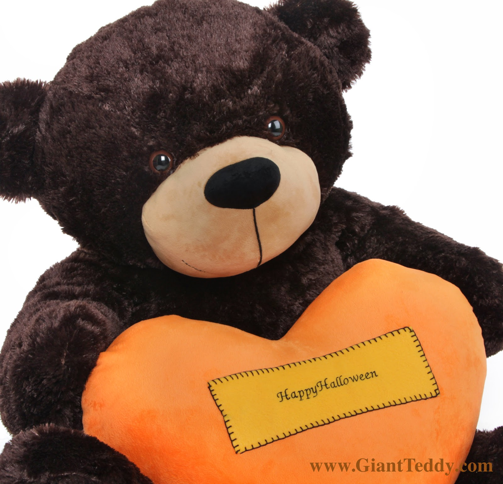 Brownie Cuddles 48 inch Happy Halloween Heart Bear