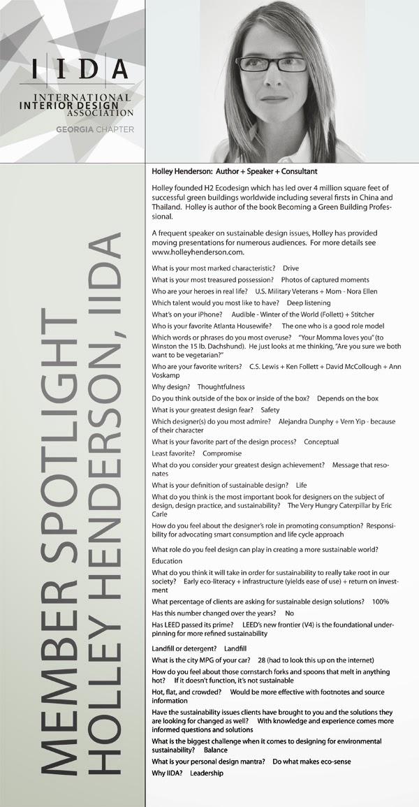 Designed & Delivered: IIDA Member Spotlight: Holley Henderson