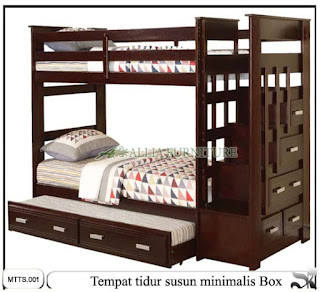 Tempat tidur minimalis susun box