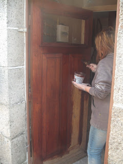 Restoring an old wooden front door