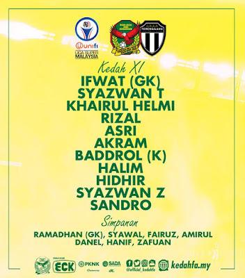 Live Streaming Kedah vs Terengganu Liga Super 17.7.2018