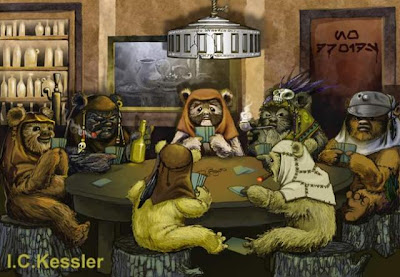 """Perros jugando a póker"" ewoks"