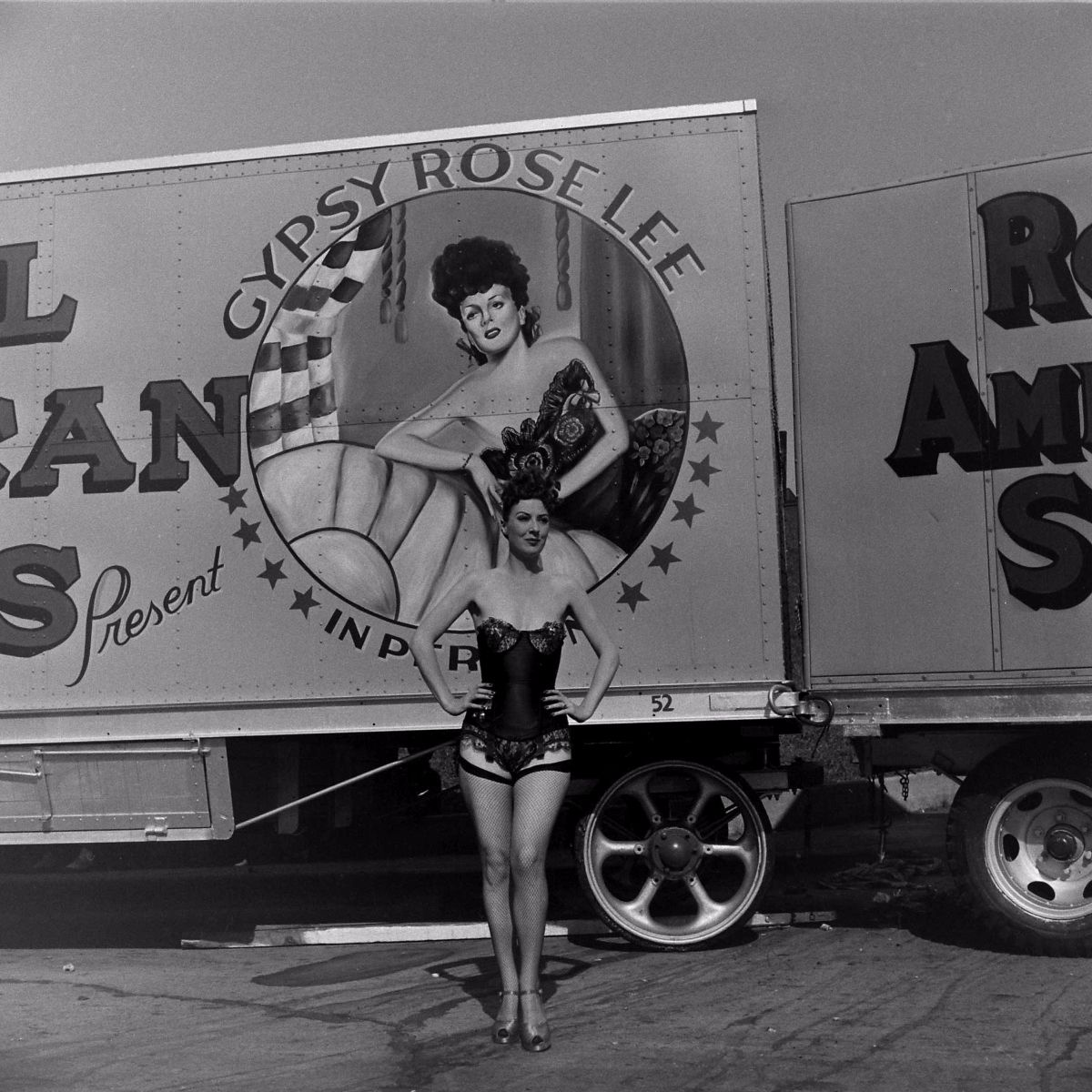Gypsy Rose Lee in Memphis, Tenn., 1949.