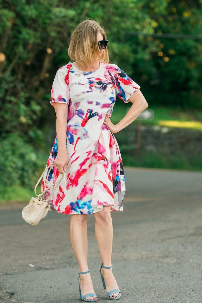 Closet London Multi Water Floral Print Tunic Dress