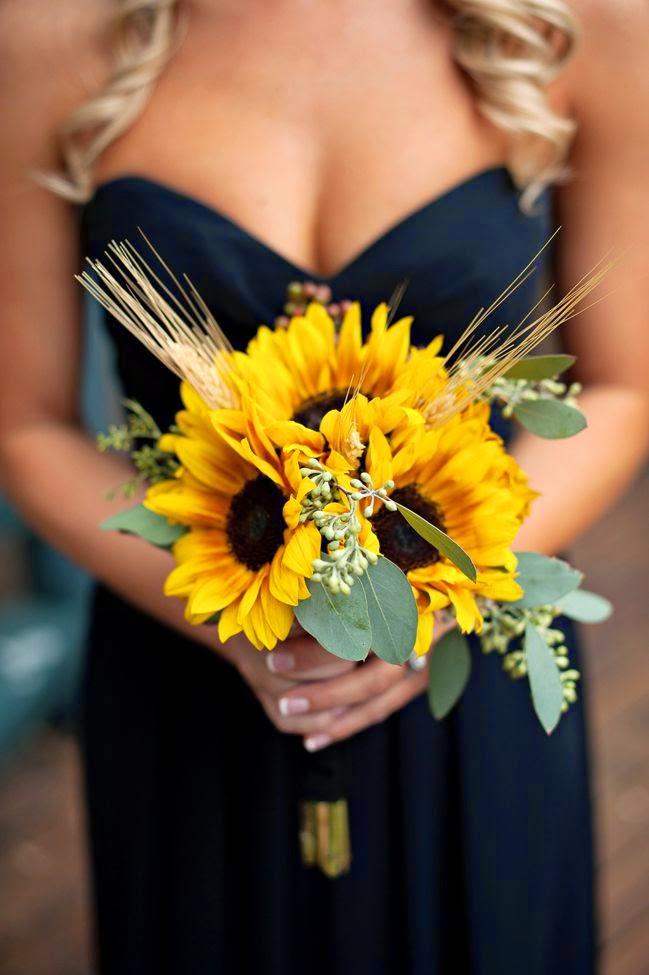 Bouquet Sposa Girasole.My Wedding Life Matrimonio A Tema Girasoli E Spighe Di Grano